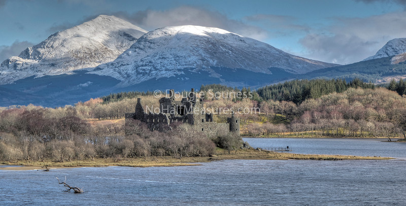 'Kilchurn Castle' - dating back to around 1450 with Ben Lui behind, Nr Dalmally, Argyll, Scotland