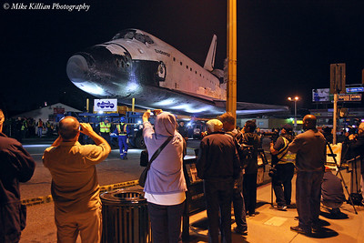 Shuttle Endeavour On The Streets Of Los Angeles