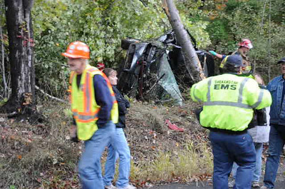 RYAN TOWNSHIP BURMA ROAD ACCIDENT w/ ENTRAPMENT 10-6-2010 PICTURES AND VIDEO BY COALREGIONFIRE
