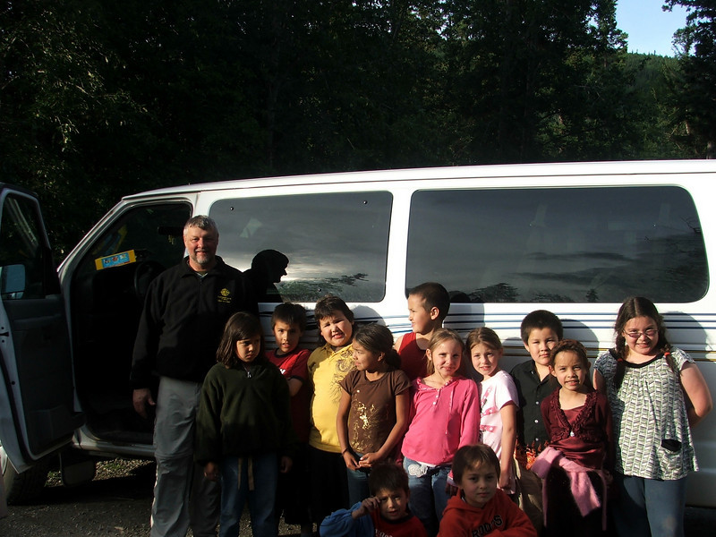 Third Grade Class, Chalo School, Liard Hot Springs Provincial Park, Northern British Columbia