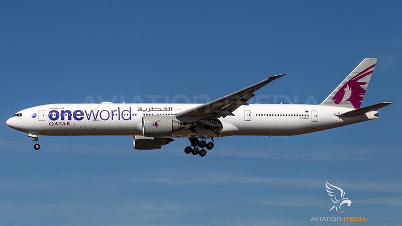 Qatar Airways (OneWold livery) Boeing B777-300 A7-BAF