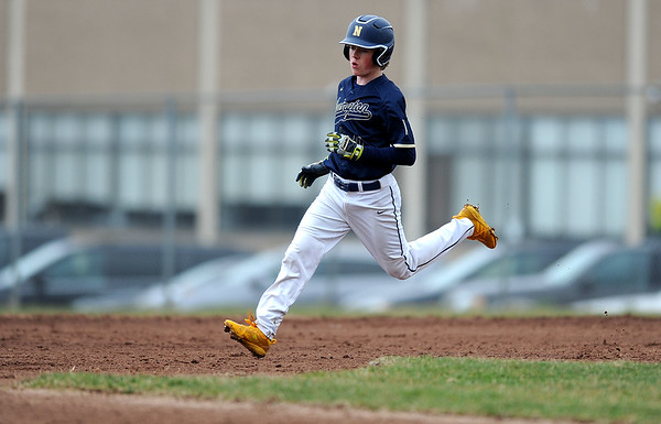 4/12/2019 Mike Orazzi | Staff Newington's Ryan Saindon (11) during baseball on Friday at Bristol Central.