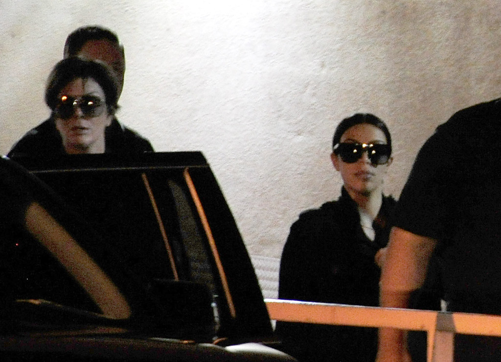 . Television personalities Kris Jenner (L) and Kim Kardashian leave Sunrise Hospital & Medical Center where former NBA player Lamar Odom is being treated on October 14, 2015 in Las Vegas, Nevada. Odom was found unconscious during a vist to the Love Ranch Las Vegas brothel in Crystal, Nevada on Tuesday.  (Photo by Steven Lawton/Getty Images)