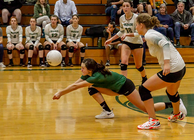 Game one into Game two, Set four: Vashon Island High School Varsity Volleyball v Chimacum 09/20/2018