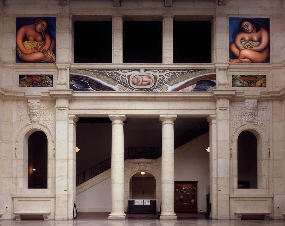 . Detroit Industry, east wall, Diego Rivera, 1932-33, fresco. Detroit Institute of Arts