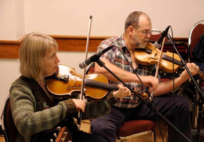 Sue Goehring and Lynne Frederick, folk fest 2008.