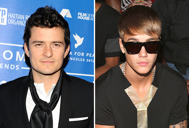 ". 4. (tie) JUSTIN BIEBER & ORLANDO BLOOM <p>If you�re have trouble telling them apart, Bieber is the coward hiding behind his posse. (1) </p><p><b><a href=""http://www.tmz.com/2014/07/29/orlando-bloom-justin-bieber-ibiza-fight-bar-miranda-kerr/\"" target=\""_blank\""> LINK </a></b> </p><p>   (Getty Images photos)</p>"