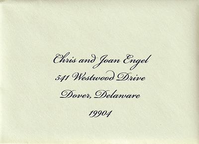 INVITATIONS Engel-Chinnery wedding