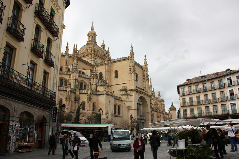 Segovia's cathedral.  Very goth.  Haha.
