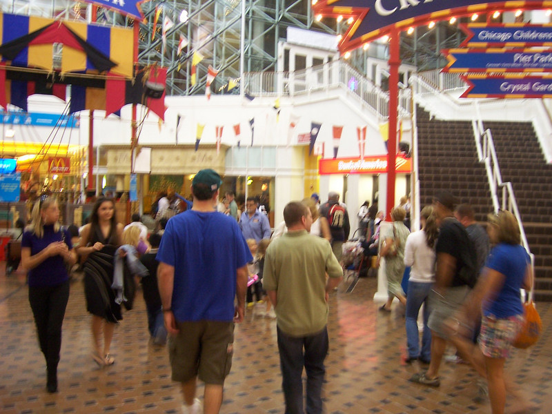 And, we're walking it off through Navy Pier.