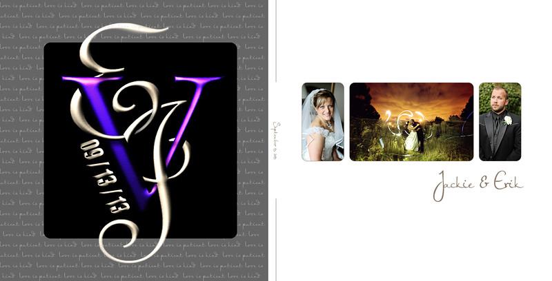 Jackie & Erik 10x10 Tuscany Wedding Album