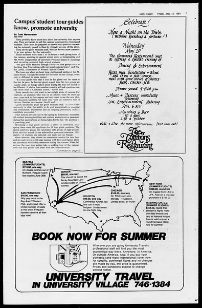 Daily Trojan, Vol. 90, No. 63?, May 15, 1981