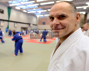 2013 Tonbridge Judo Training Camp 131220A5487: Former Olympic and European champion, Ezio Gamba of Italy, 55, who led the Russian team to victory ....