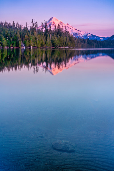 Lost Lake and Last Light on Mt. Hood