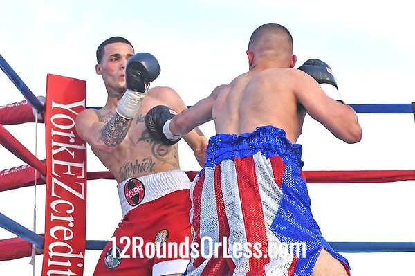 Bout 6 Ivan Hernandez, Red, white & blue trunks, Buffalo, NY -vs- Carlos Nieves, Red with white trunks, Bronx, NY, Super Lightweight