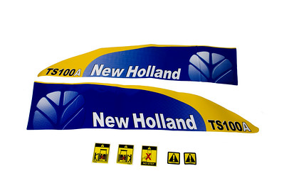 FORD NEW HOLLAND TSA 100 SERIES BONNET DECAL SET