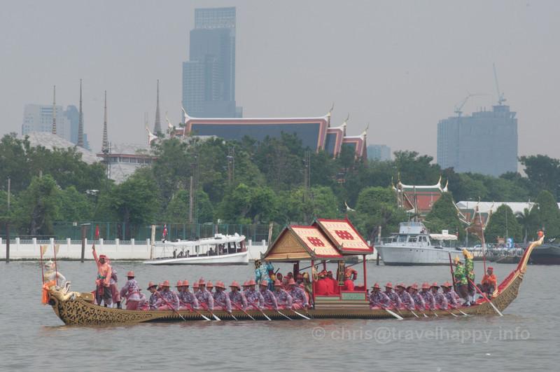 Krabi Ran Ron Rap Barge, Royal Barges Procession, Bangkok, Thailand 6 November 2012