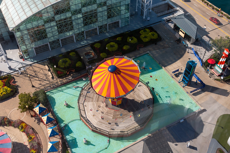 View of the Wave Swinger from the Navy Pier Ferris Wheel