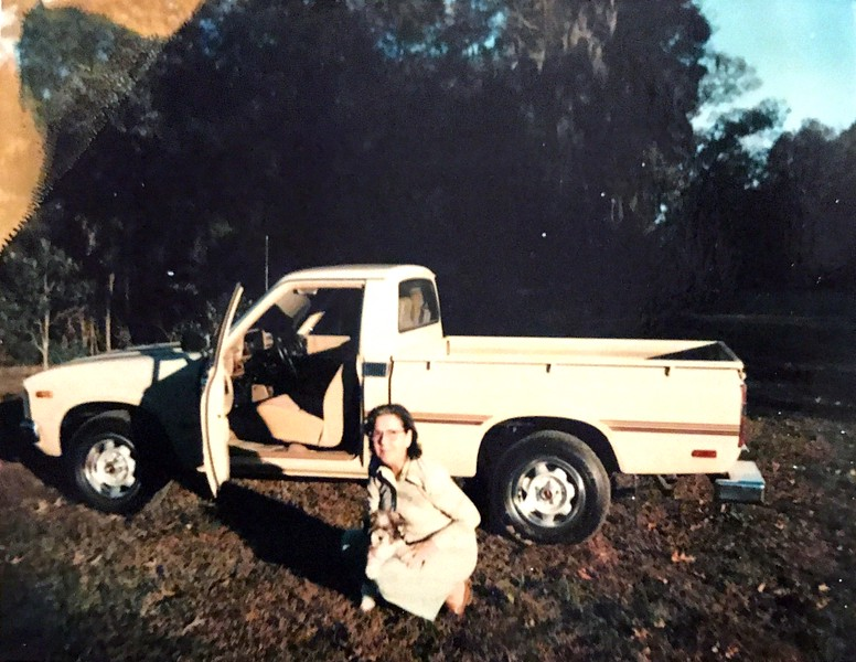"""Back says """"Geraldine with Benji and the new Toyota"""""""