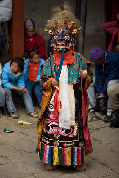 Cham Dance at Mani Rimdu Festival, Solu, Nepal.