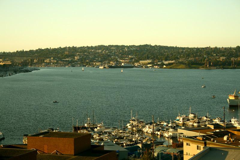 Often pretty views of water urban hiking in Seattle.