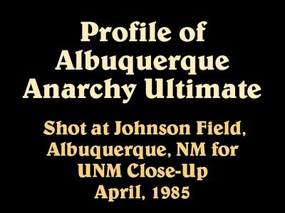1985 UNM Ultimate