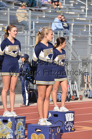 JV Cheer FB vs Cathedral Catholic