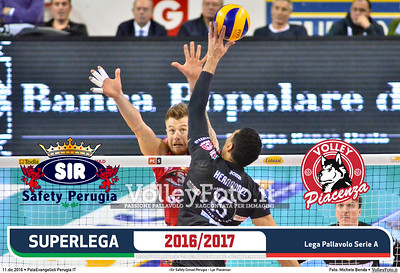 1ª ritorno #SuperLega «Sir Safety Conad Perugia - Lpr Piacenza»