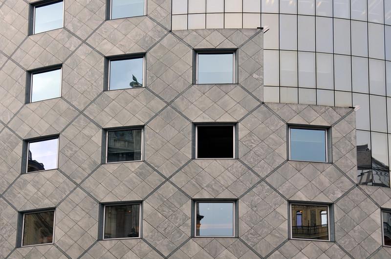 Facade of Haas-Haus Building in Vienna, Austria, by Hans Hollein