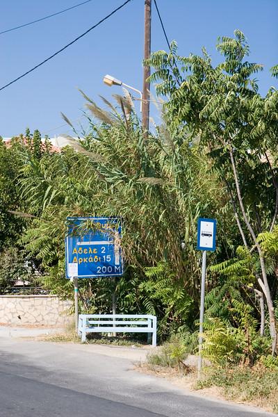 Vakantie Kreta. Bushalte.