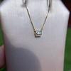 .70ct French Cut Diamond Bezel Pendant, 18kt Yellow Gold 15