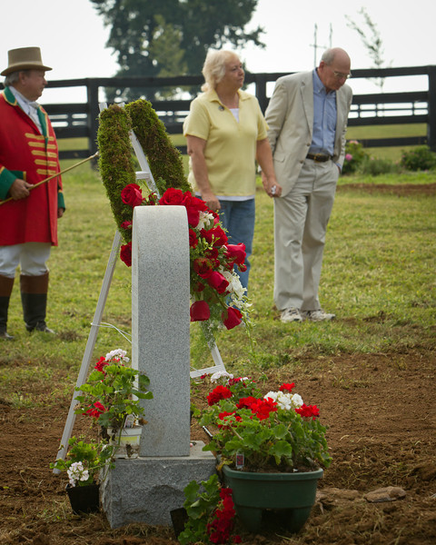 Noor's re internment ceremony at Old Friend's Equine Retirement on 8.31.2011