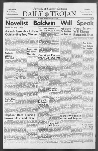 Daily Trojan, Vol. 54, No. 116, May 10, 1963