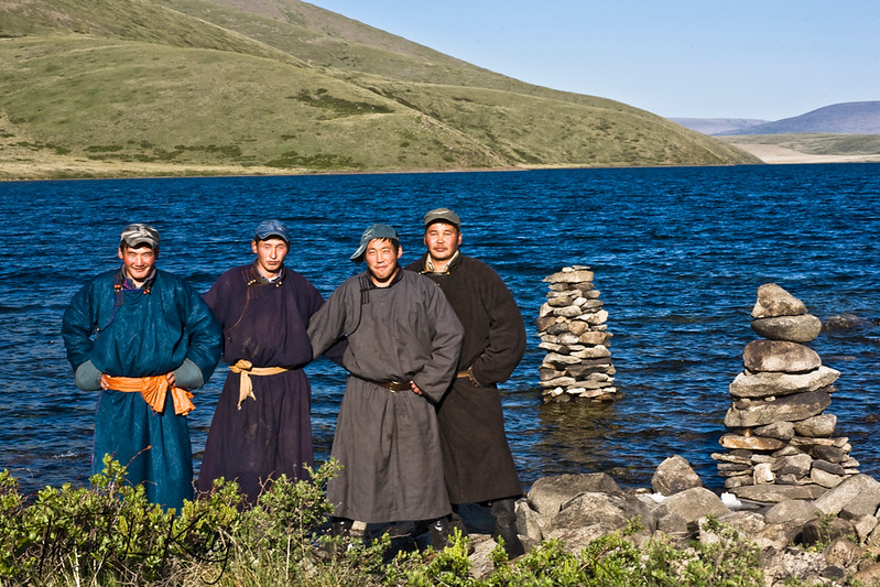 Blue Lake Trip. Mongolia.