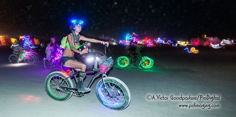 The bike lights made for terrifc night photography.