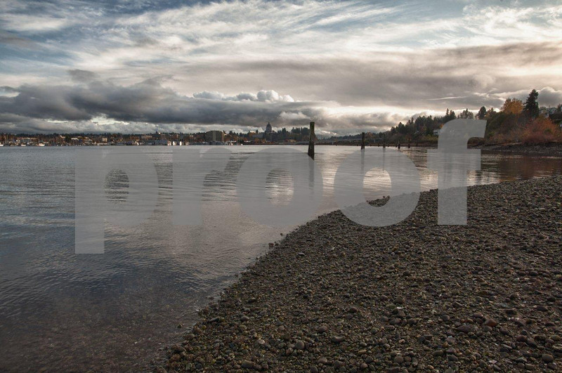 The view south to the Capitol from West Bay Park on the western shores of Budd Inlet in Olympia, WA.