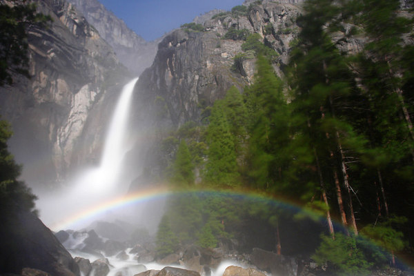 Moonbow at Yosemite National Park
