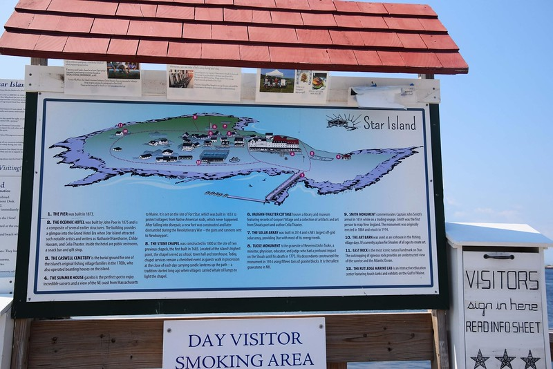 sign with map of star island