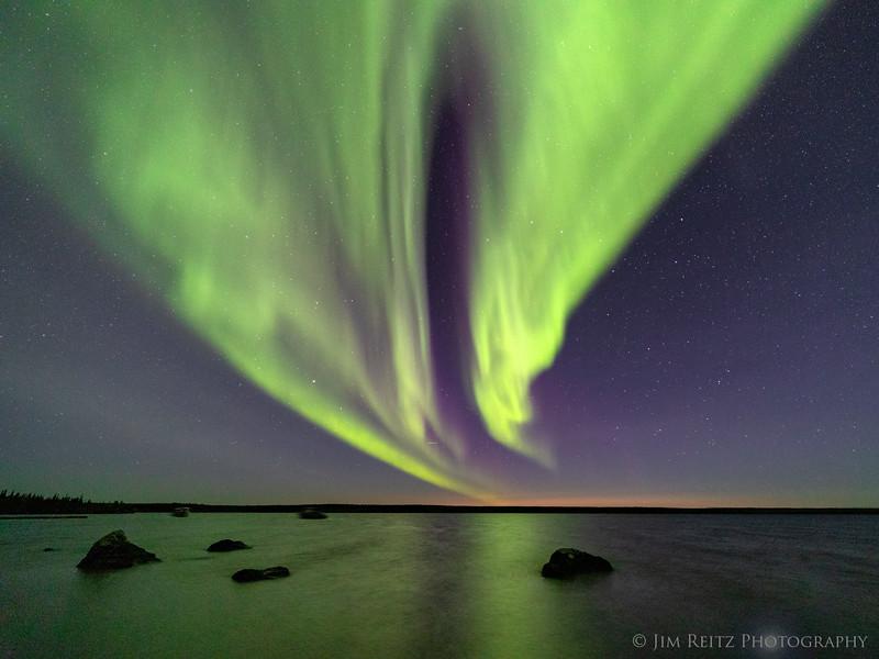 Aurora Borealis, Ennadai Lake, Nunavut Territories