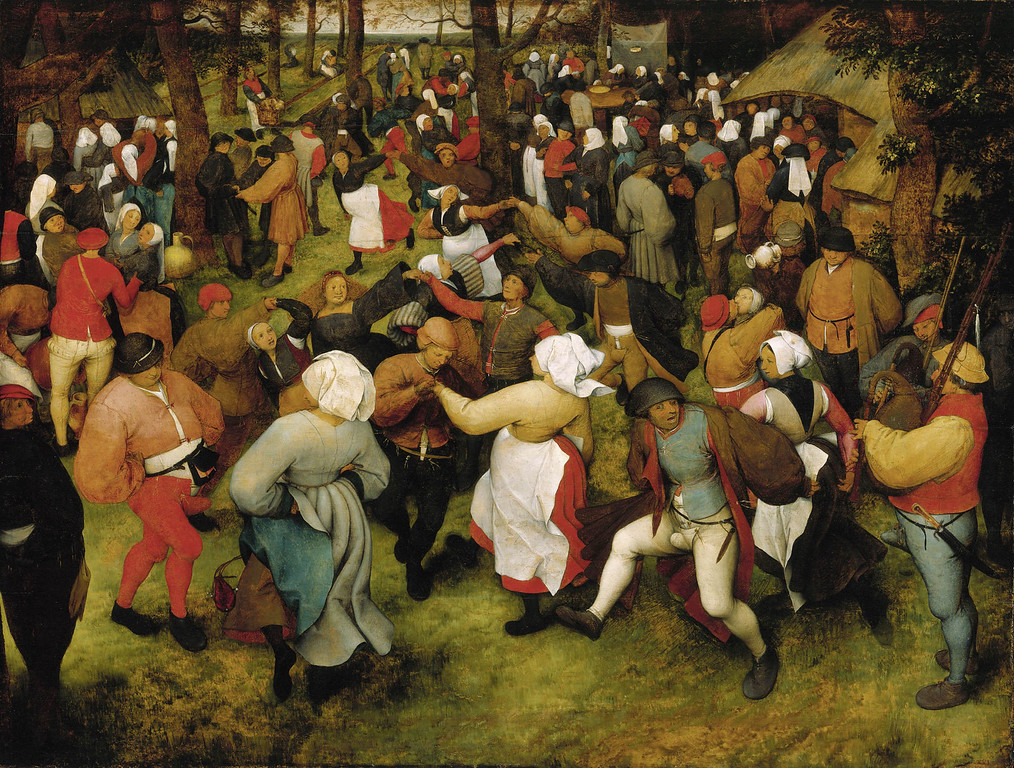 . This undated image provided by the Detroit Institute of Arts shows �The Wedding Dance� by Pieter Bruegel the Elder, painted in 1566, showing a joyous celebration by peasants. It�s considered one of the most important works in the Detroit museum�s collection. The museum�s holdings were at one point threatened with a sale to help fund Detroit�s pension obligations, but finalization of the city�s bankruptcy last week included a deal that protects the art. (AP Photo/Detroit Institute of Arts)