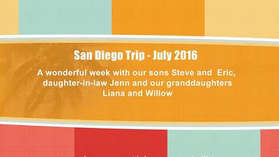 2016 San Diego Trip