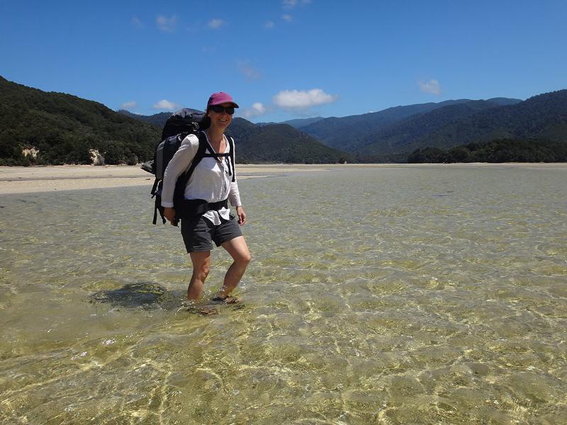 Crossing Awaroa Inlet