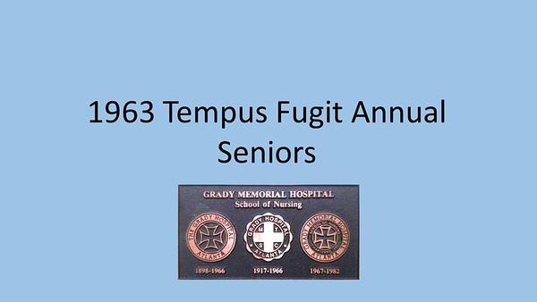 1963 Tempus Fugit Yearbook