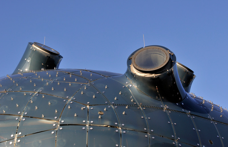 Detail of Outer Skin of Kunsthaus Museum in Graz (Austria)