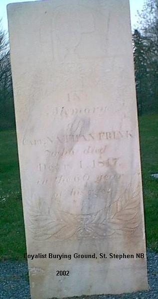 Capt. Nathan Frink Grave *