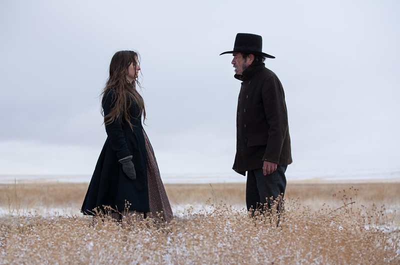 """. This image released by Cannes Film Festival shows Grace Gummer, left, and Tommy Lee Jones in a scene from \""""The Homesman.\"""" (AP Photo/Cannes Film Festival)"""