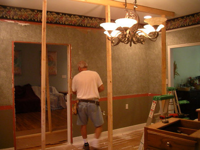 Kitchen wall removal