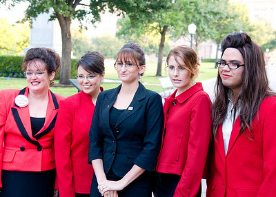 10/30/08 - Sarah Palin Look-a-likes at the Texas State Capitol