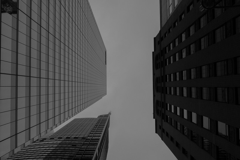 The Financial District in  Toronto, Ontario, Canada.