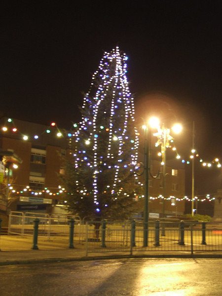 Christmas Lights. Johnstone town centre